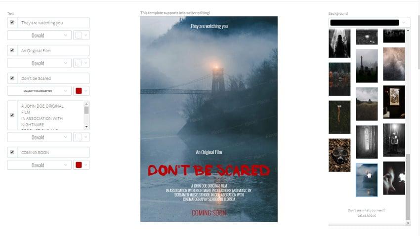 movie poster horror
