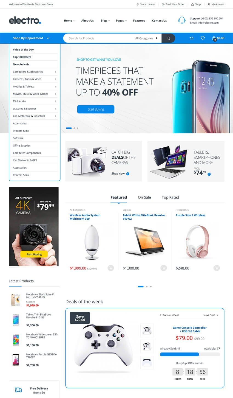eCommerce WooCommerce WordPress Theme Design