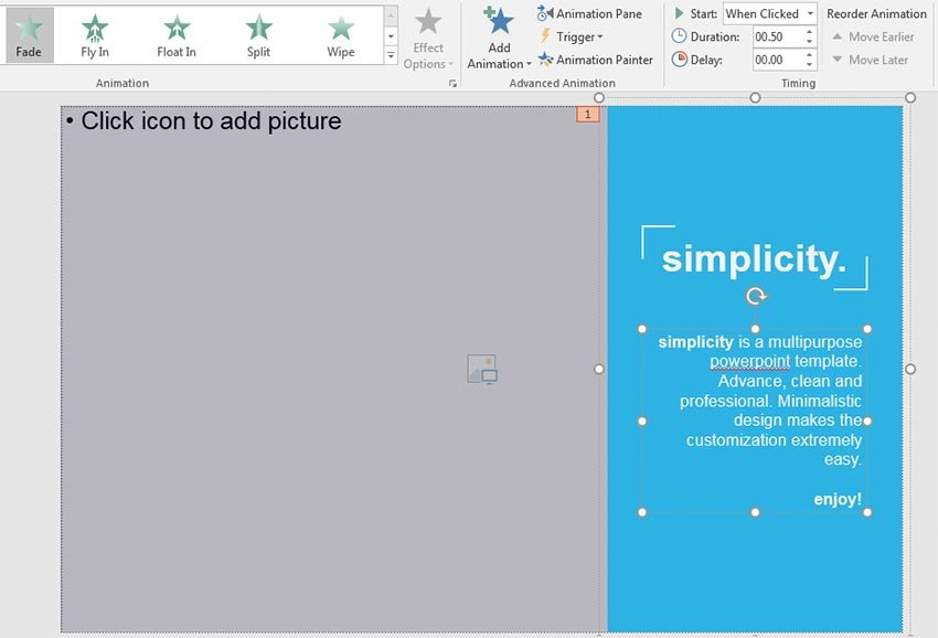 PowerPoint Animation Preview