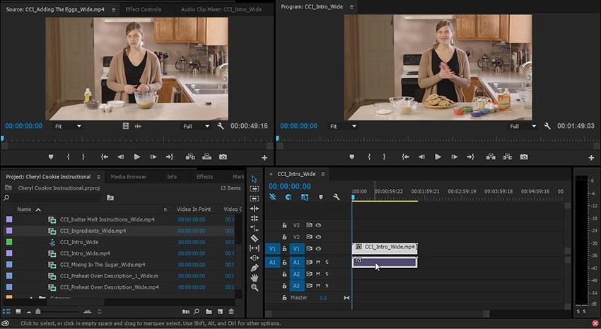 A new timeline in Adobe Premiere Pro