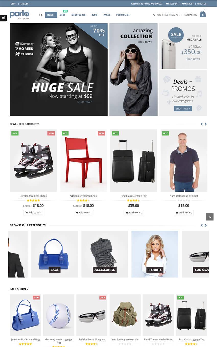 Responsive WordPress eCommerce Theme