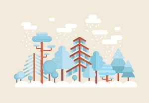 27 flat winter forest trees400