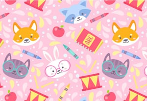 37 school animals pattern400