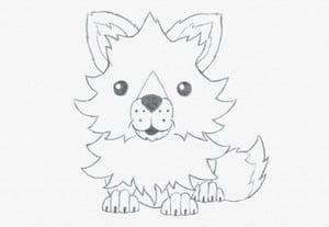 Draw fox baby prev