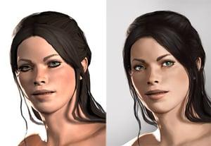 Paint digital portrait prev