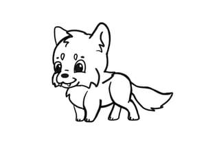 Draw chibi animals deer prev