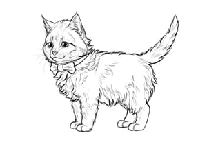 How to draw cute kitten preview