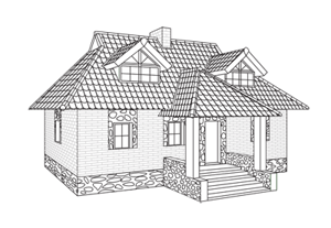 How to draw house step preview