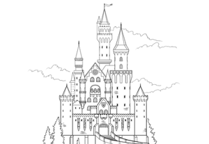 How to draw castle preview