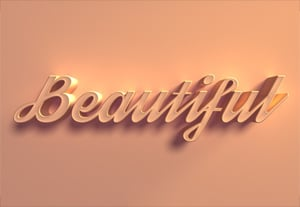 How to create 3d text photoshop preview
