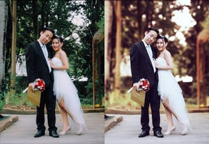 Create photoshop wedding action preview