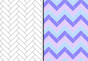 Create herringbone pattern illustrator preview