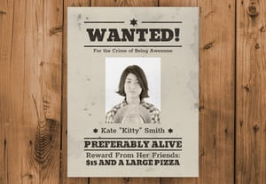 Wanted poster preview