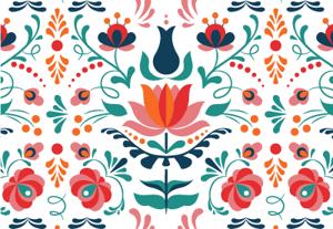 Folk art pattern preview