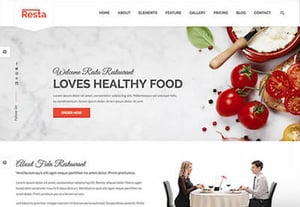 Restaurant template preview