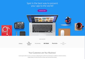 Landing page html template preview