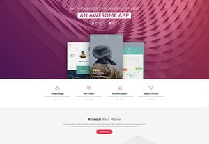 Product landing page templates preview