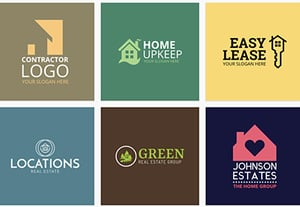 Real estate logo designs preview