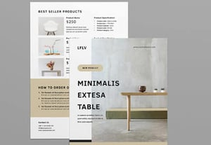 Product flyer templates preview