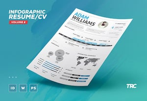 Infographic resume word psd