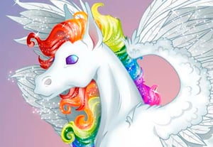 Rainbow pegasus preview