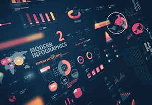 Infographics web design preview