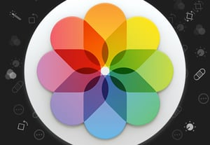 Apple photos edit icon