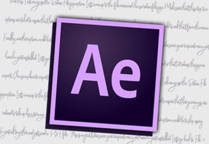 Ae handwritten icon