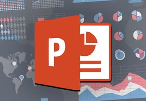 Powerpoint infographics template icon