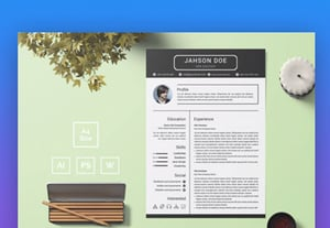 Contemporary resume design