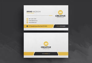Modern business card tutorial preview