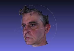 Intel realsense import 3d head model to unity