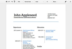 How to make a resume in google docs