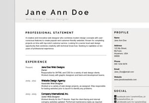 Modern resume template crop