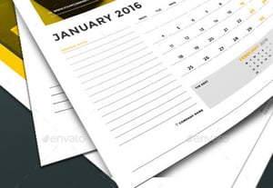 Printable monthly calendar templates 2016
