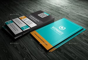 Preview business card vertical psd template