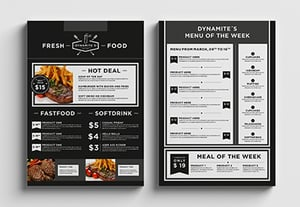 Best restaurant menu templates preview