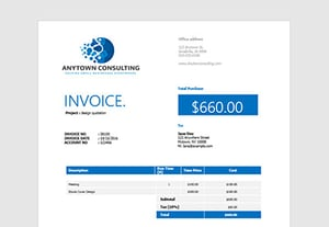How to make an invoice in word
