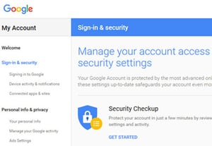 Password gmail security