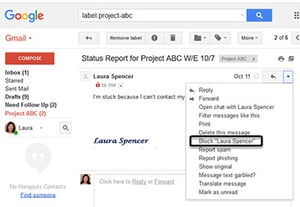 How to filter and block spam messages in gmail