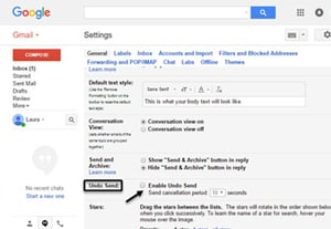 How to recall unsend an email in gmail