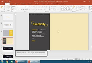 How to add powerpoint speaker presenter notes