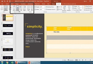 How to add a table in powerpoint