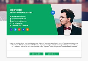 Best personal html resume website template