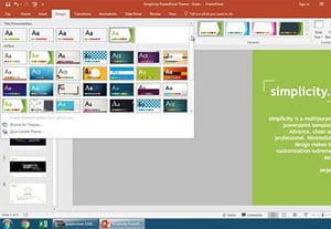 How to change your powerpoint themes