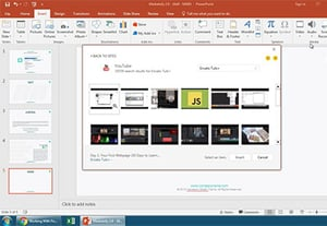 How to insert add youtube video into powerpoint