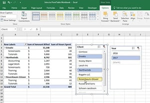 How to add slicers to excel pivot tables