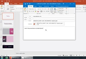 How to email a powerpoint presentation file