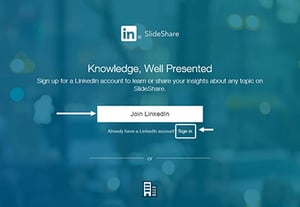 What is slideshare linkedin account