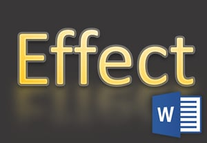 Word text effects logo